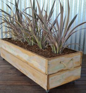 Timber offcuts planter