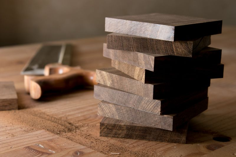 Timber offcuts coasters