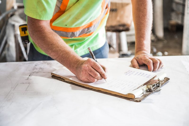 small building business builder working